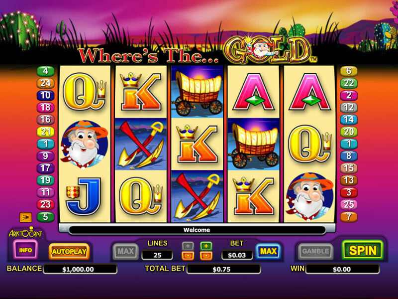 Where's the Gold Pokie Machine by Aristocrat